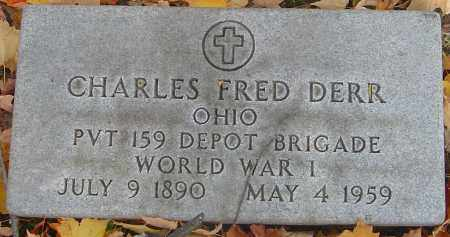 DERR, CHARLES FRED - Franklin County, Ohio | CHARLES FRED DERR - Ohio Gravestone Photos