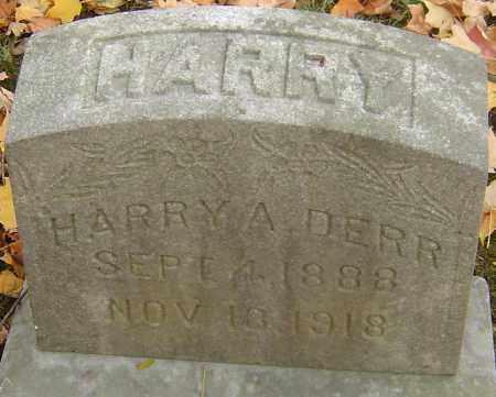 DERR, HARRY A - Franklin County, Ohio | HARRY A DERR - Ohio Gravestone Photos