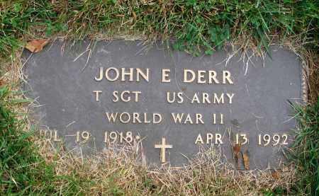 DERR, JOHN E. - Franklin County, Ohio | JOHN E. DERR - Ohio Gravestone Photos