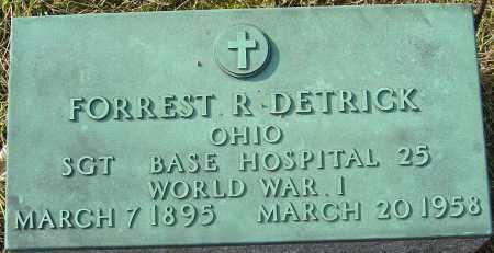 DETRICK, FORREST R - Franklin County, Ohio | FORREST R DETRICK - Ohio Gravestone Photos