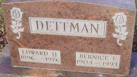DETTMAN, EDWARD H - Franklin County, Ohio | EDWARD H DETTMAN - Ohio Gravestone Photos