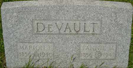 DEVAULT, FANNIE M - Franklin County, Ohio | FANNIE M DEVAULT - Ohio Gravestone Photos