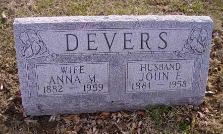 DEVERS, ANNA M. - Franklin County, Ohio | ANNA M. DEVERS - Ohio Gravestone Photos