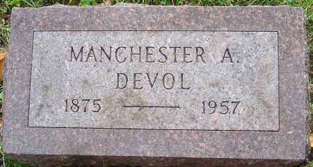 DEVOL, MANCHESTER A - Franklin County, Ohio | MANCHESTER A DEVOL - Ohio Gravestone Photos