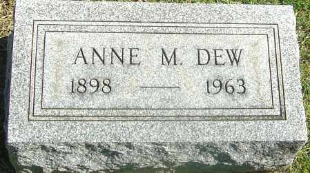DEW, ANNE M - Franklin County, Ohio | ANNE M DEW - Ohio Gravestone Photos
