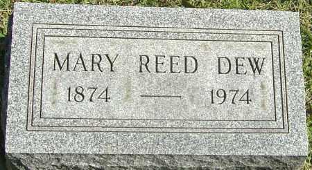 REED DEW, MARY - Franklin County, Ohio | MARY REED DEW - Ohio Gravestone Photos