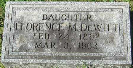 DEWITT, FLORENCE M - Franklin County, Ohio | FLORENCE M DEWITT - Ohio Gravestone Photos