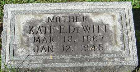 DEWITT, KATE ETHEL - Franklin County, Ohio | KATE ETHEL DEWITT - Ohio Gravestone Photos