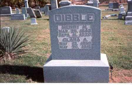 DIBBLE, HENRY H,. - Franklin County, Ohio | HENRY H,. DIBBLE - Ohio Gravestone Photos