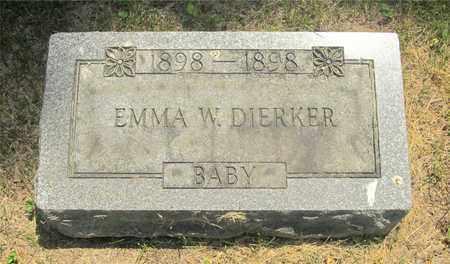DIERKER, EMMA W. - Franklin County, Ohio   EMMA W. DIERKER - Ohio Gravestone Photos