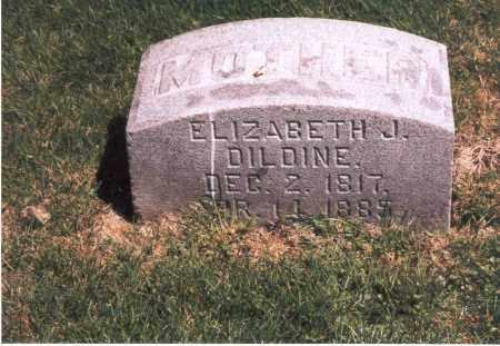 DILDINE, ELIZABETH J. - Franklin County, Ohio | ELIZABETH J. DILDINE - Ohio Gravestone Photos