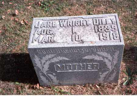 WRIGHT DILEY, JANE - Franklin County, Ohio | JANE WRIGHT DILEY - Ohio Gravestone Photos