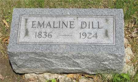 DILL, EMALINE - Franklin County, Ohio | EMALINE DILL - Ohio Gravestone Photos