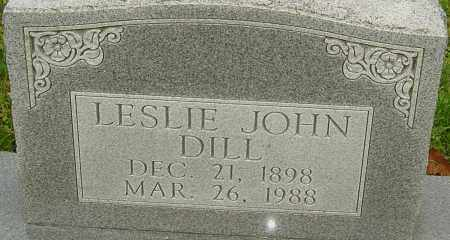 DILL, LESLIE - Franklin County, Ohio | LESLIE DILL - Ohio Gravestone Photos