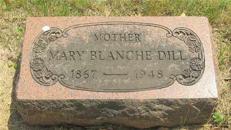 DILL, MARY BLANCHE - Franklin County, Ohio | MARY BLANCHE DILL - Ohio Gravestone Photos
