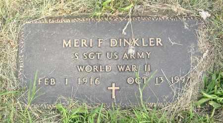 DINKLER, MERI F. - Franklin County, Ohio | MERI F. DINKLER - Ohio Gravestone Photos