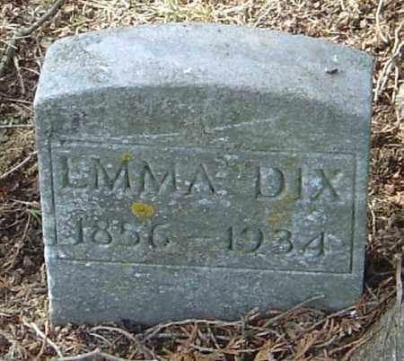 DIX, EMMA - Franklin County, Ohio | EMMA DIX - Ohio Gravestone Photos