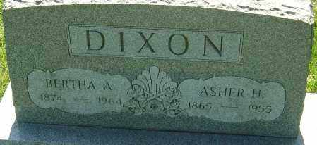 DIXON, ASHER H - Franklin County, Ohio | ASHER H DIXON - Ohio Gravestone Photos