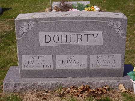 DOHERTY, ORVILLE J. - Franklin County, Ohio | ORVILLE J. DOHERTY - Ohio Gravestone Photos