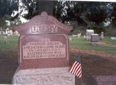 WARD DOLBY, ELIZABETH - Franklin County, Ohio | ELIZABETH WARD DOLBY - Ohio Gravestone Photos