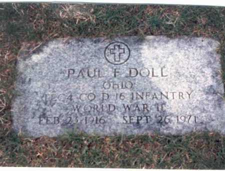 DOLL, PAUL F. - Franklin County, Ohio | PAUL F. DOLL - Ohio Gravestone Photos