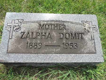 DOMIT, ZALPHA - Franklin County, Ohio | ZALPHA DOMIT - Ohio Gravestone Photos