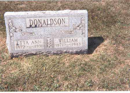DONALDSON, WILLIAM - Franklin County, Ohio | WILLIAM DONALDSON - Ohio Gravestone Photos