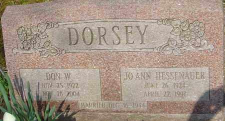 DORSEY, DON W - Franklin County, Ohio | DON W DORSEY - Ohio Gravestone Photos