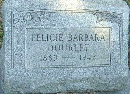 DOURLET, FELICIE BARBARA - Franklin County, Ohio | FELICIE BARBARA DOURLET - Ohio Gravestone Photos
