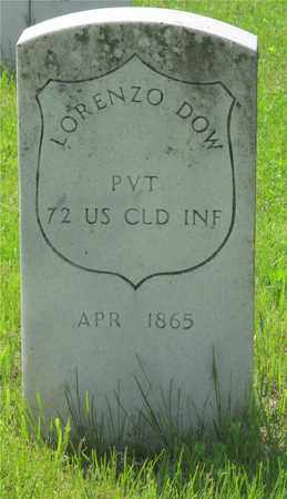 DOW, LORENZO - Franklin County, Ohio | LORENZO DOW - Ohio Gravestone Photos