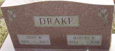 DRAKE, JOHN W - Franklin County, Ohio | JOHN W DRAKE - Ohio Gravestone Photos