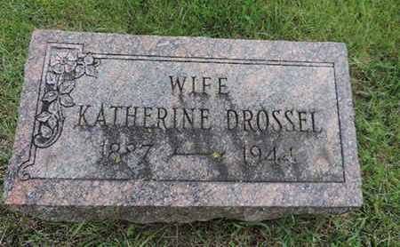 DROSSEL, KATHERINE - Franklin County, Ohio | KATHERINE DROSSEL - Ohio Gravestone Photos