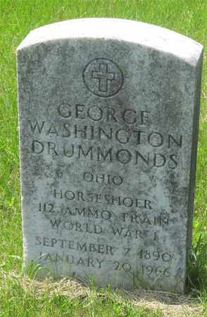 DRUMMONDS, GEORGE WASHINGTON - Franklin County, Ohio | GEORGE WASHINGTON DRUMMONDS - Ohio Gravestone Photos