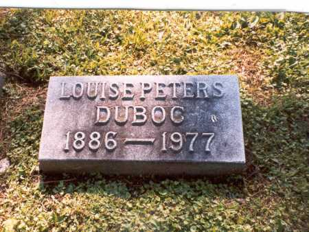 PETERS DUBOC, LOUISE - Franklin County, Ohio | LOUISE PETERS DUBOC - Ohio Gravestone Photos
