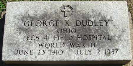 DUDLEY, GEORGE KENNETH - Franklin County, Ohio | GEORGE KENNETH DUDLEY - Ohio Gravestone Photos