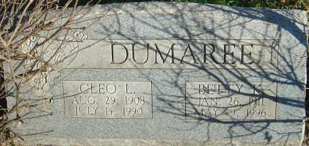 DUMAREE, BETTY K - Franklin County, Ohio | BETTY K DUMAREE - Ohio Gravestone Photos