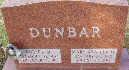 LESLIE DUNBAR, MARY ANN - Franklin County, Ohio | MARY ANN LESLIE DUNBAR - Ohio Gravestone Photos