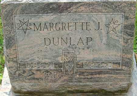 DUNLAP, MARGRETTE J - Franklin County, Ohio   MARGRETTE J DUNLAP - Ohio Gravestone Photos