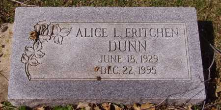FRITCHEN DUNN, ALICE L. - Franklin County, Ohio | ALICE L. FRITCHEN DUNN - Ohio Gravestone Photos