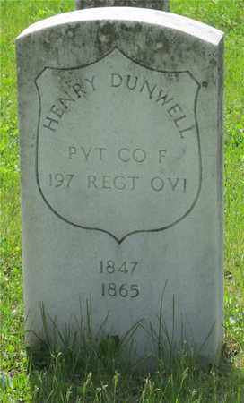 DUNWELL, HENRY - Franklin County, Ohio | HENRY DUNWELL - Ohio Gravestone Photos