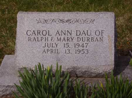 DURBAN, CAROL ANN - Franklin County, Ohio | CAROL ANN DURBAN - Ohio Gravestone Photos