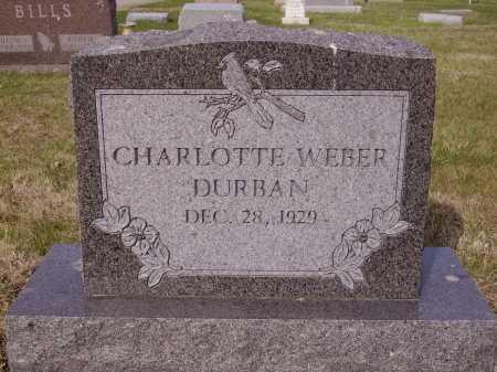 WEBBER DURBAN, CHAROLOTTE - Franklin County, Ohio | CHAROLOTTE WEBBER DURBAN - Ohio Gravestone Photos