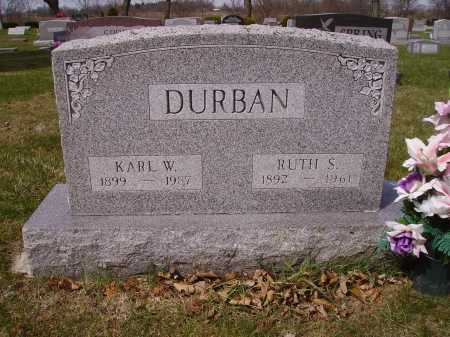 DURBAN, RUTH S. - Franklin County, Ohio | RUTH S. DURBAN - Ohio Gravestone Photos
