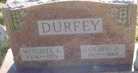 DURFEY, OLIVE J - Franklin County, Ohio | OLIVE J DURFEY - Ohio Gravestone Photos