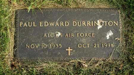 DURRINGTON, PAUL EDWARD - Franklin County, Ohio | PAUL EDWARD DURRINGTON - Ohio Gravestone Photos