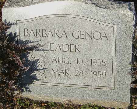 EADER, BARBARA - Franklin County, Ohio | BARBARA EADER - Ohio Gravestone Photos