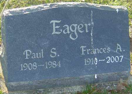EAGER, PAUL S - Franklin County, Ohio | PAUL S EAGER - Ohio Gravestone Photos