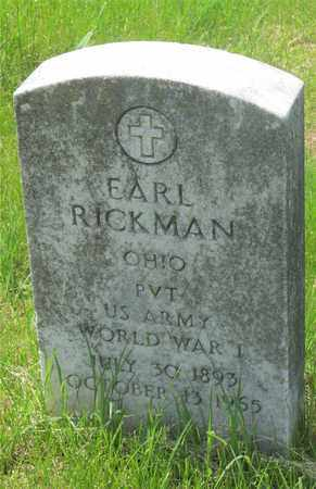 EARL, RICKMAN - Franklin County, Ohio | RICKMAN EARL - Ohio Gravestone Photos