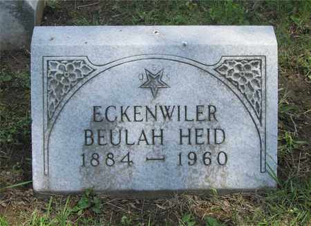 ECKENWILER, BEUHLAH - Franklin County, Ohio | BEUHLAH ECKENWILER - Ohio Gravestone Photos