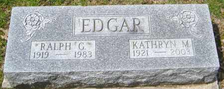 EDGAR, KATHRYN - Franklin County, Ohio | KATHRYN EDGAR - Ohio Gravestone Photos